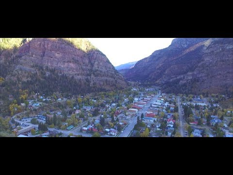 Drone Flight - Ouray, Colorado Sunrise, United States