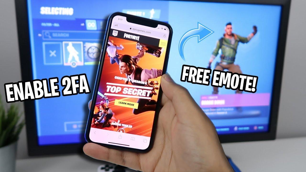 How To Enable 2fa Fortnite Easy Method Free Emote Youtube