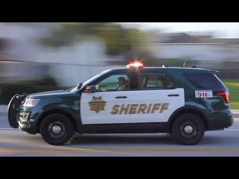 TONS of California Highway Patrol & Sheriff Police Cars Responding FAST with Epic Sirens!