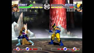 X-men Mutant Academy - Gameplay PSX (PS One) HD 720P (Playstation classics)