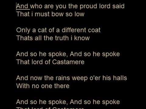 Game of Thrones - The Rains of Castamere Karaoke Version