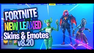 *NEW* ALL LEAKED Fortnite Skins & Emotes v8.20...! (Prickly Patroller, Nightwitch)