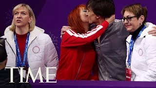 What Is The 'Kiss & Cry' In Olympic Figure Skating? Emotional Moments Of The 2018 Olympics | TIME