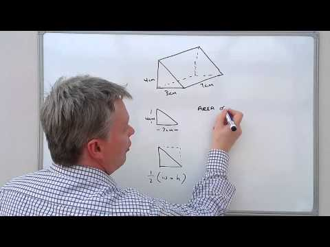 how to work out right triangle prism