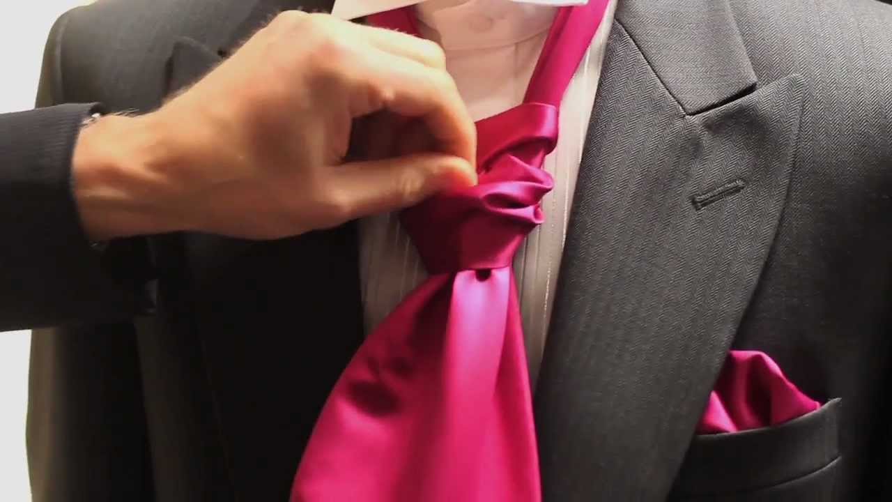 How To Tie A Cravat By Simon James Youtube Double Windsor Knot Diagram Pictures 3