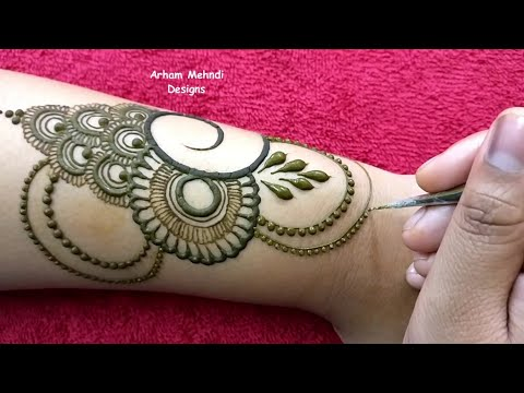 New Easy Beautiful Mehndi Design For Hand || EID 2019 Special Mehndi Design || Arham Mehndi Designs