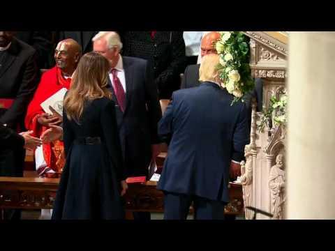 President Trump Thanks Church Members At National Prayer Service In Washington DC
