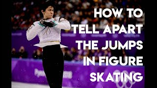 HOW TO TELL APART THE JUMPS IN FIGURE SKATING