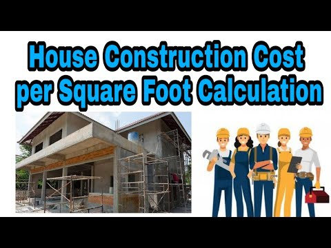 Calculation of Cost of Construction per Square Feet - YouTube
