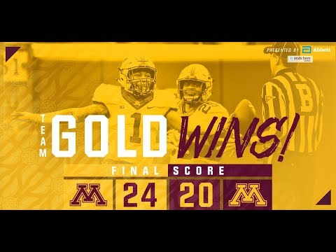 Highlights: 2018 Gopher Football Spring Game (Gold 24 ...