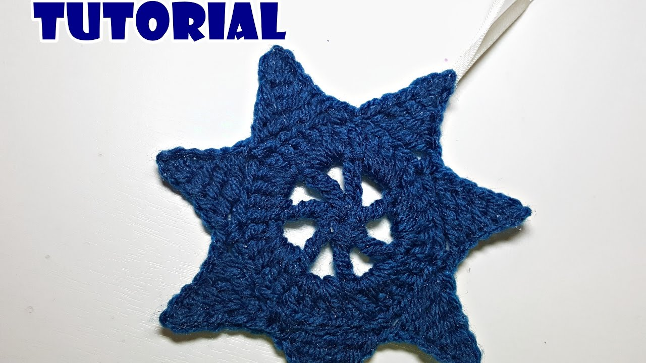 Tutorial stella decorativa all uncinetto crochet star home decor