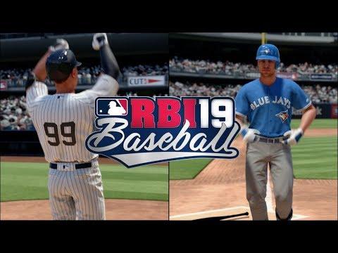 RBI Baseball 19 Gameplay - New York Yankees vs Toronto Blue Jays 5 Inning Game (Xbox One) 1080p