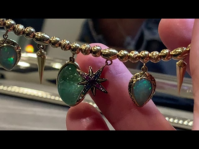 Venyx World emerald necklace seen at Christies