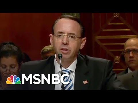 WSJ: Robert Mueller Office Interviewed Rod Rosenstein On James Comey Firing | Rachel Maddow | MSNBC