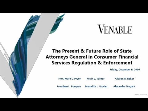The Present and Future Role of State AGs in Consumer Financial Services Regulation and Enforcement