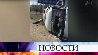 В Дагестане произошла крупная авария с участием пяти машин, в том числе пассажирской маршрутки.