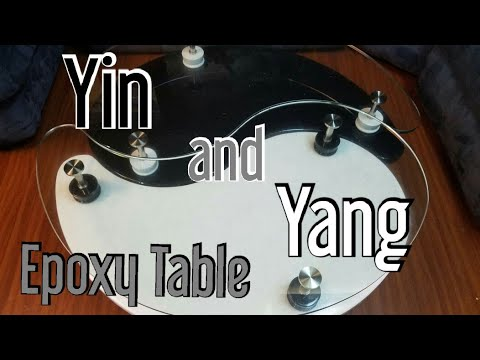 DIY Epoxy Coffee and End Tables - Yin Yang