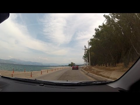 Patras' beach aka Plage (Πλαζ Πάτρας), Greece - onboard camera