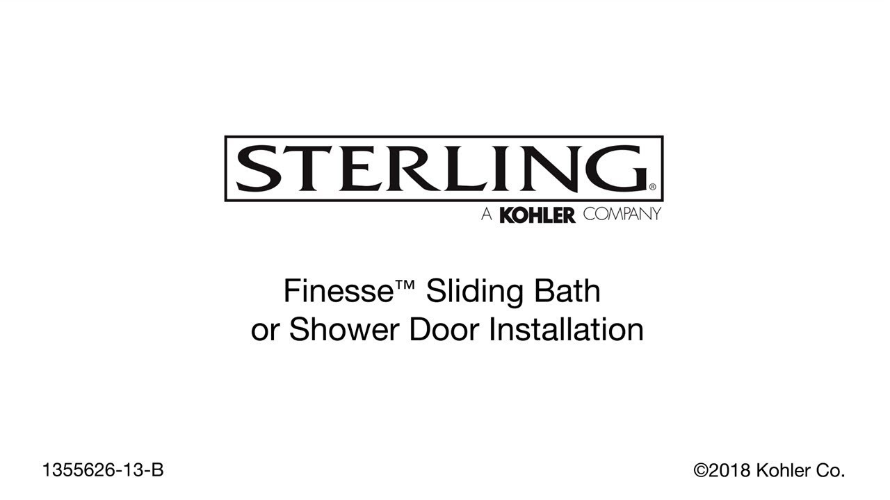 Installation Finesse Sliding Bath And Shower Doors