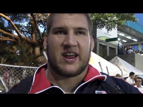 Josh Freeman USA GOLD shot put final Pan Am Jrs