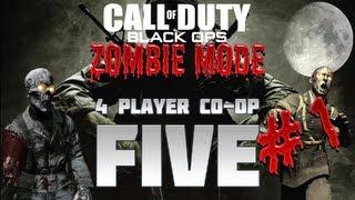 Black Ops Zombie Modus: Zu viert auf Five - Teil 1 (Gameplay/Quad LiveCommentary)
