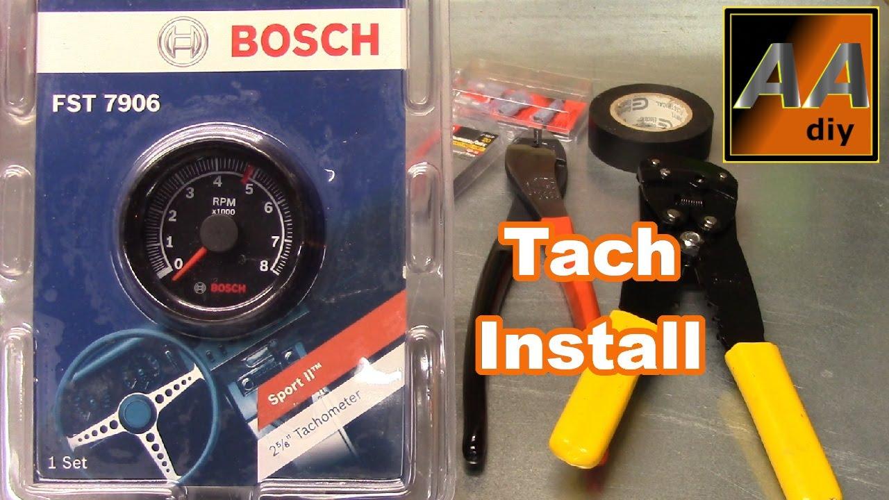 [EQHS_1162]  Bosch Sport II Tachometer, It Works! - YouTube | Bosch Tachometer Wiring |  | YouTube