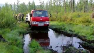 Поход по Якутии на Nissan Atlas