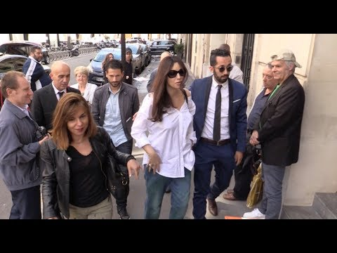 EXCLUSIVE : Monica Bellucci goes to RTL radio station in Paris