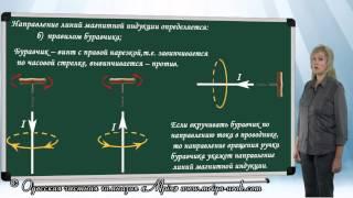 Направление вектора магнитной индукции. Правило буравчика