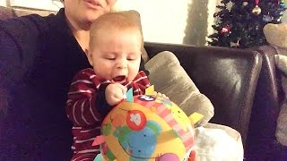 😂HILARIOUS ANGRY BABY SCREAMING AT TOY BALL😜! DYCHES FAM