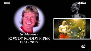 "WWE: ""Rowdy"" Roddy Piper - ""Hold On Tight"" - Official Tribute Theme Song"