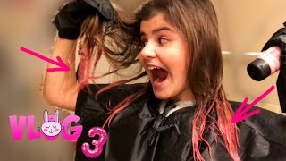 КРАШУ концы волос в РОЗОВЫЙ цвет!!!! Что с этого получилось? Влог vlog