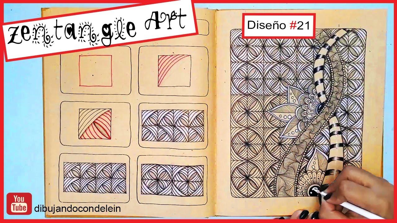 Como Dibujar Zentangle Art Paso A Paso 21 Zentangle Pattern Youtube