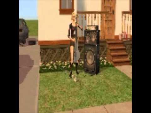christina aguilera car wash, sims 2 music video