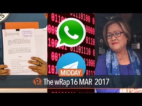 Duterte impeachment case, Leila de Lima, Whatsapp & Telegram | Midday wRap