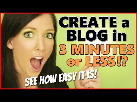 how to create a blog youtube