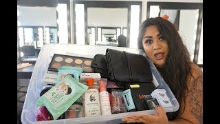WHAT'S IN MY MAKEUP KIT FOR MAKEUP SCHOOL!  | ♡Autumn Flower