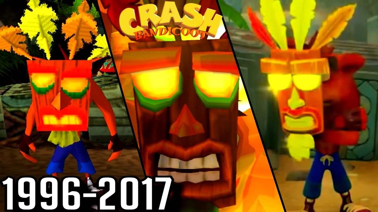 Evolution Of Aku Aku Invincibility In Crash Bandicoot