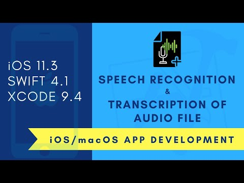 iOS Beginner: Speech Recognition - Transcription of audio file (Swift 4 + XCode 9)