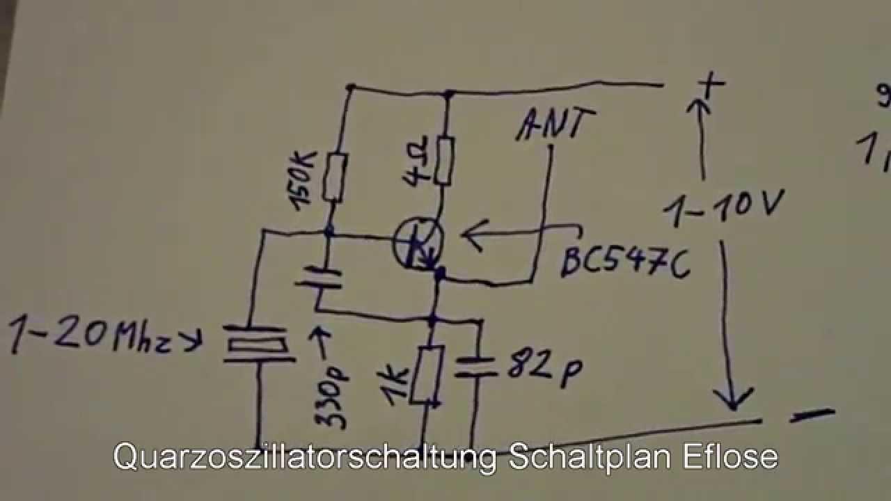 Quarzoszillator Schaltplan Und Test Eflose 43 Crystal Quartz Oscillator Circuit Diagram And