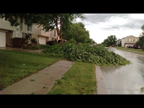 Powerful 100MPH+ Wind Storm With Very Strong Winds & Rain News Broadcast (June 16, 2017 | Omaha, NE)