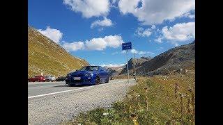 Nissan Skyline R34 Single Turbo on swiss alp pass