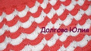 Вязание спицами плотного узора для платья ///  Knitting a dense pattern for the dress
