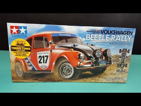 Tamiya MF-01X VW Beetle Rally 1/10 4WD Unboxing and review #58650