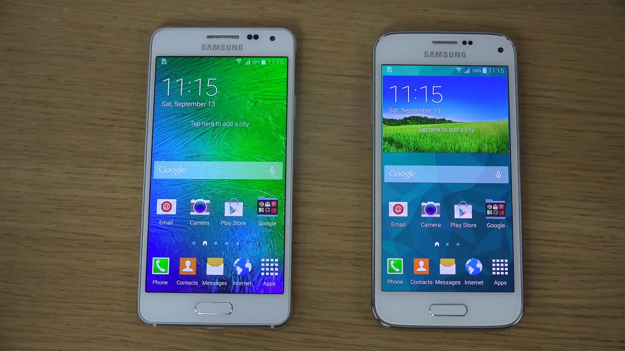 samsung galaxy alpha vs samsung galaxy s5 mini review youtube. Black Bedroom Furniture Sets. Home Design Ideas