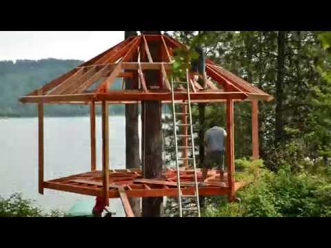 Treehouse build timelapse youtube for Houses images pictures