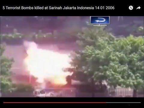 5 Terrorist Bombs killed at Starbuck Sarinah Jakarta Indonesia 14 01 2006