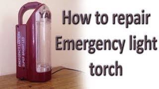How to repair / replace Emergency light / torch charging transformer 0-9 v 500ma