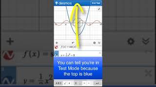 Using Desmos Test Mode