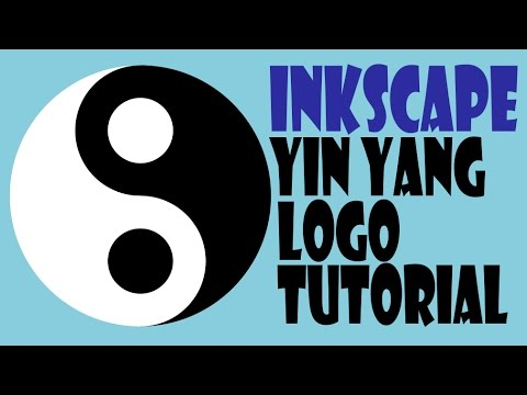 Inkscape Logo Tutorial - How To Make Yin Yang Logo Step By Step